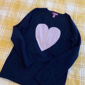 Aqua girls cashmere heart sweater